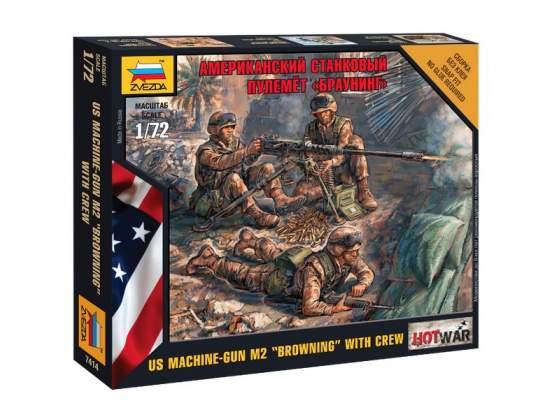 """American Machine Gun """"Browning"""" Zvezda Kit 1:72 Z"""
