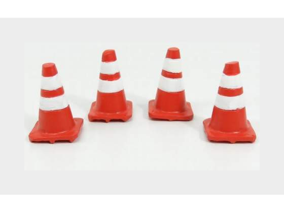 Set 4X Coni Blocca Traffico Traffic Cones AMERICAN DIORAMA