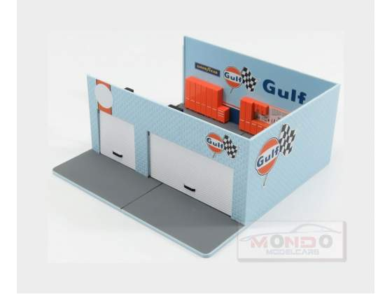 Set Officina Garage Corner Gulf Station GREENLIGHT 1:64