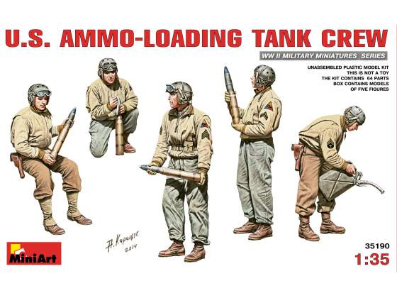 U.S. Ammo - Loading Tank Crew Miniart 1:35 Kit MIN