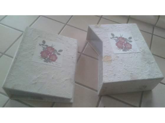 Album foto con custodia in carta naturale e fiori secchi