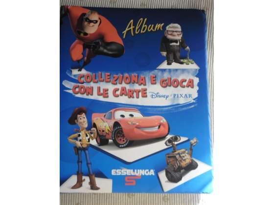 Cards Esselunga disney pixar 1-2 serie mancolista