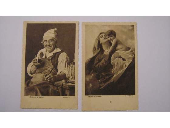 """Cartoline anni """"30"""" riproduzioni di quadri di pittori"""