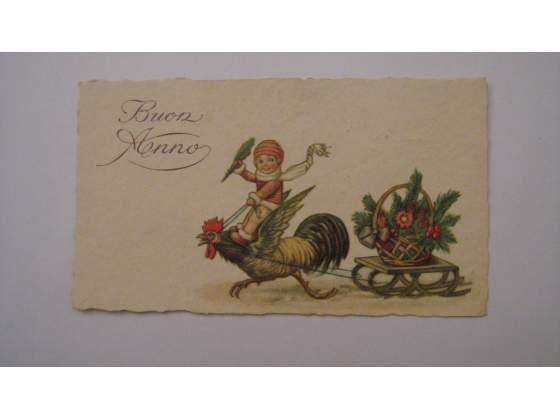 """Cartoline illustrate anni """""""" di Buon Natale e Buon Anno"""