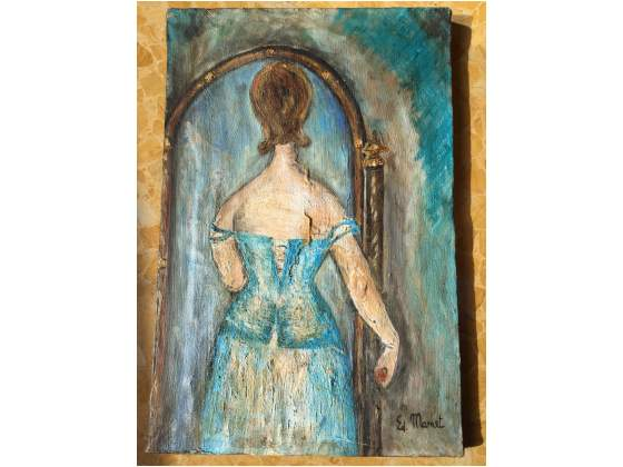 "Edouard Manet dipinto copia olio su tela ""donna allo"