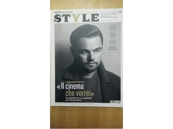 Leonardo di caprio copertina style corriere della sera