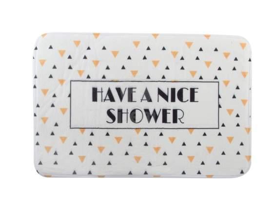 Tappeto da bagno 60x40 cm con scritta