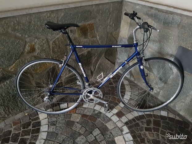 City bike ibrida bici corsa bianchi vintage