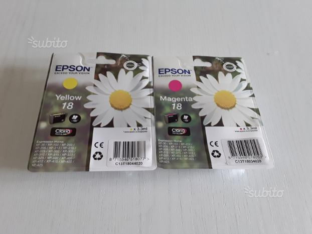 2 cartucce originali stampanti Epson