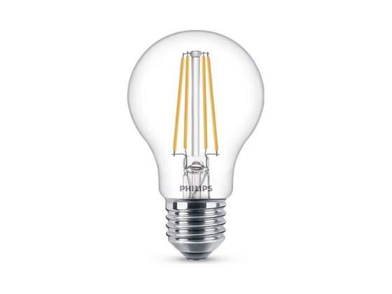 Lampadina led con filamento goccia trasparente 7W/60 E27