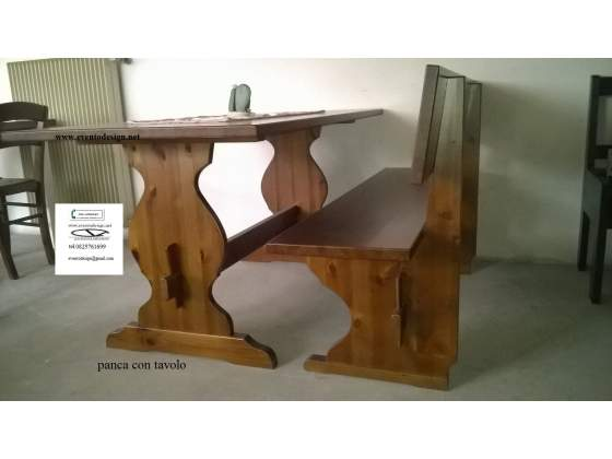 Set Panca art. 456- panca singola legno massello