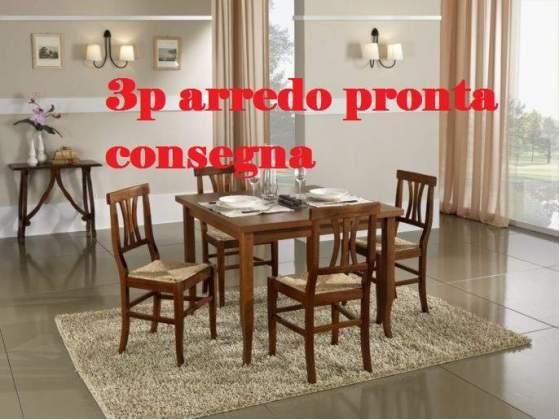 Tavolo massello con 4 sedie 3p arredo