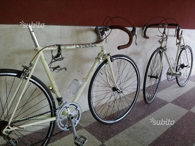 2 Bici da Corsa, totalmente restaurate e accessori