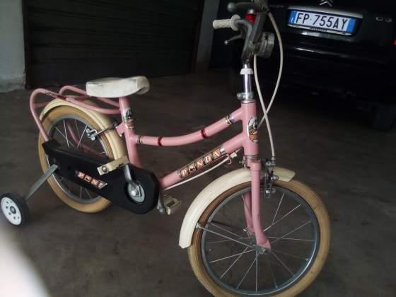 Bicicletta bambina rosa panda vintage