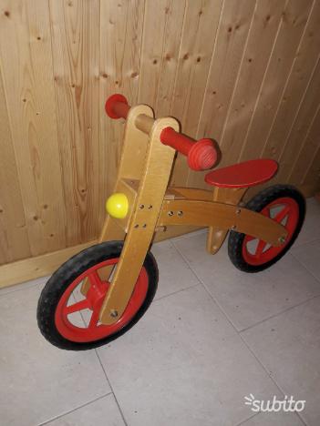 Bicicletta legno senza pedali bambini