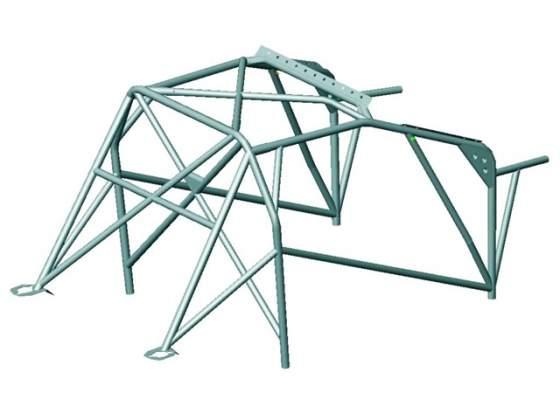 Roll bar peugeot 206 spec.da saldare in acciaio al cromo