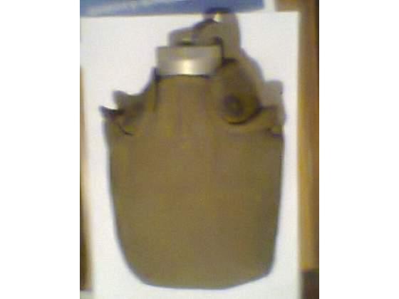 Borraccia anni'80 militare esercito in alluminio con