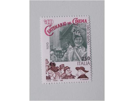 ITALIA  francobollo Centenario del Cinema L'Oro di