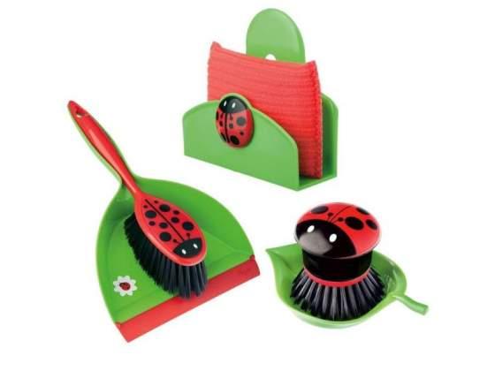 Set pulizia ladybug con decoro coccinella