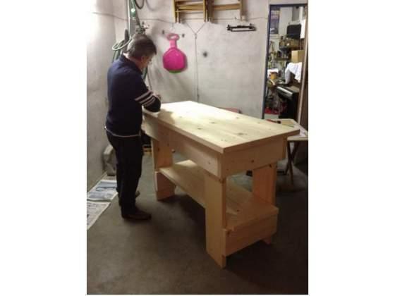 Tavolo in legno di abete banco da lavoro