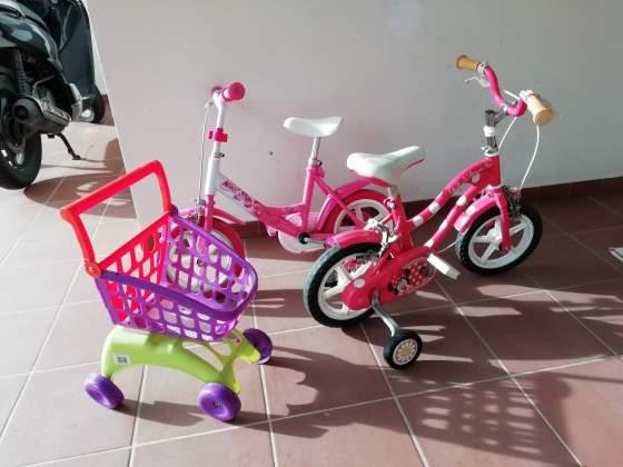 2 bici per bambina 2-4 anni