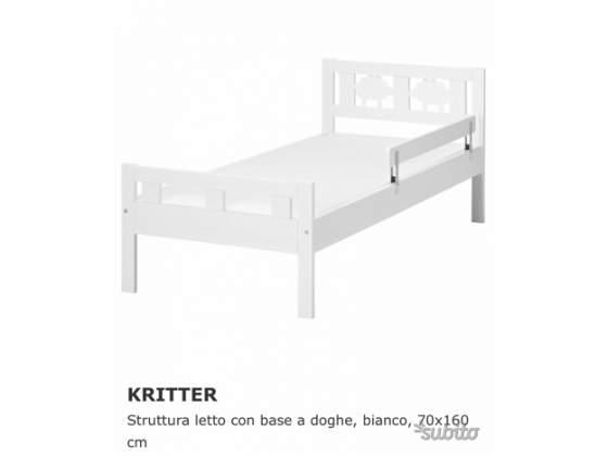 Lettino bimbi 160x70 doghe e materasso posot class for Materassi lettino ikea