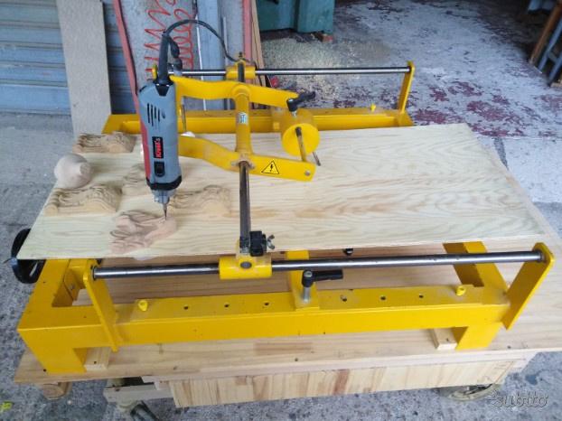 Tornio copiatore per legno usato cod p posot class for Copiatore per tornio legno autocostruito