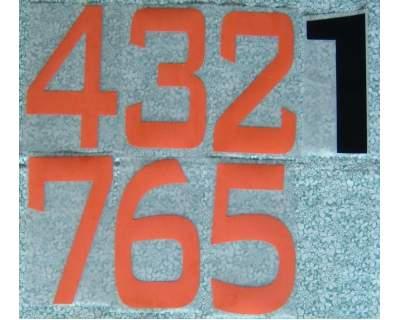 Numeri dal 1 al 7 da applicare su maglia calcio o altro