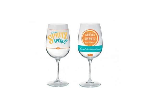 Set 2 bicchieri in vetro spritz
