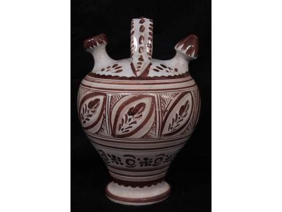 Vaso in terracotta dipinta a mano