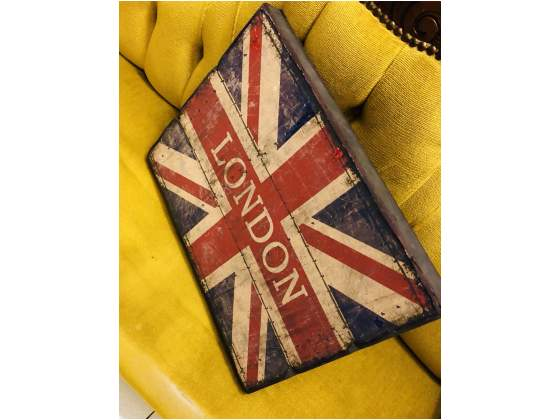 Bandiera Inglese su tavola in legno cm. 40 x 30 x 3,5