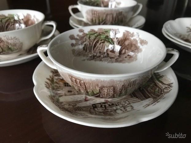 Servizio tazze brodo porcellana