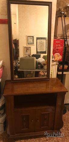 Specchio cornice legno
