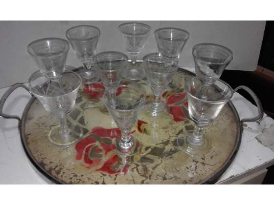 Bicchierini da liquore + vassoio anni 50