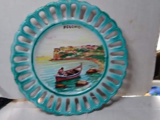 Ceramica garganica dipinta a mano epoca anni 60