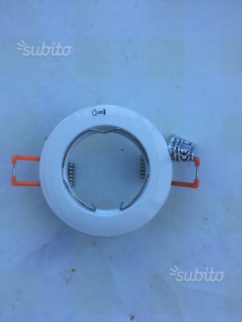 Ghiera/Faretto incasso bianco GU10 Nobile