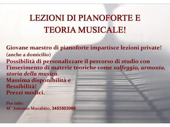 Lezioni di musica, Pianoforte e teoria musicale