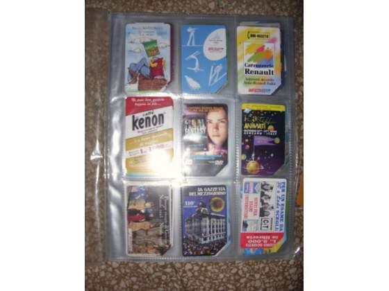 Schede telefoniche usate collezione rara anni '90