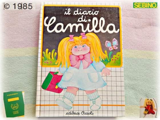 Vintage camilla sebino bambola  diario collezione nuovo