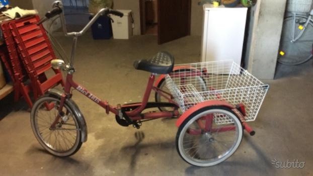 Triciclo Elettrico Olmo Bici Tre Ruote Posot Class