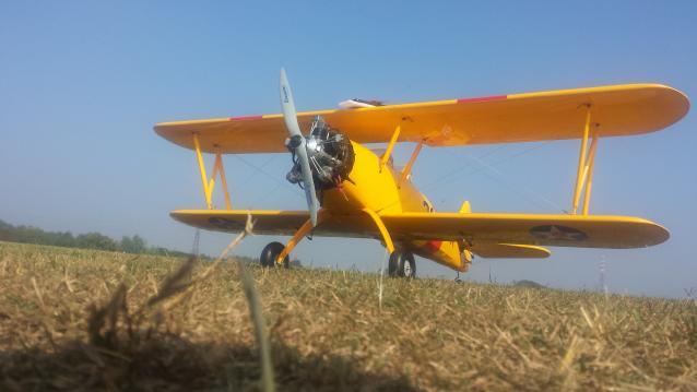 aereo stearman jamara con motore os sirius 5 cilindri