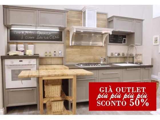 Cucina in stile INDUSTRIAL L270 + L60 interamente in legno