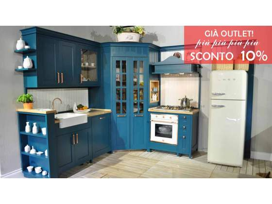 Cucina linea SYBBIA L270x210 interamente in legno
