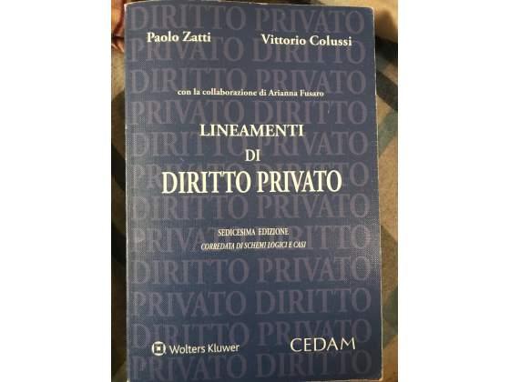"""Libro """"lineamenti di diritto privato """""""