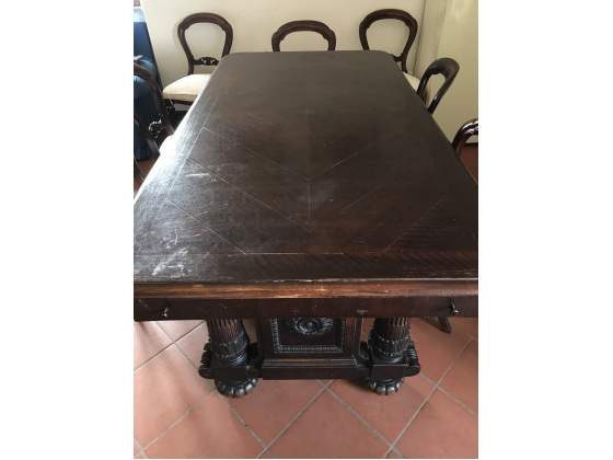 Sala da pranzo in legno stile impero