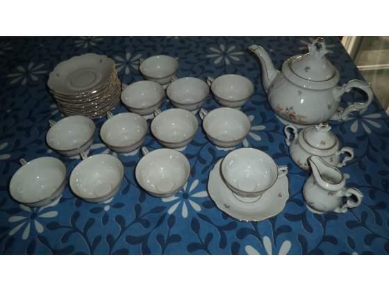 Servizio tè da 12, ceramica Bavaria, anni Cinquanta