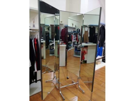 Specchio a tre ante