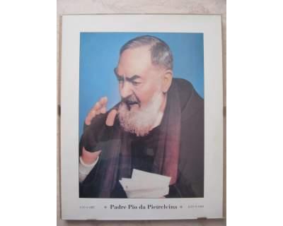 Stampa di Padre Pio in cornice a giorno