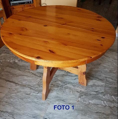 Credenza in pino russo massello a 4 ante posot class for Tavolo tondo estensibile