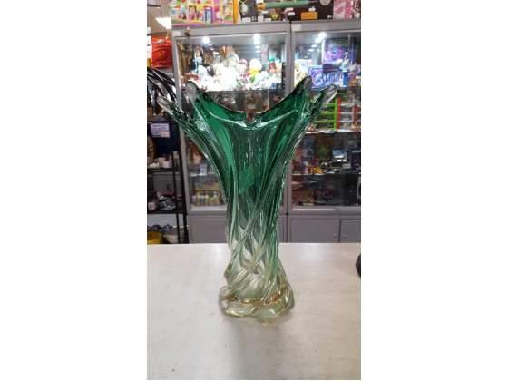 Vaso vetro pesante verde